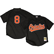 Mitchell & Ness Men's Replica Baltimore Orioles Cal Ripken Jr. Black Cooperstown Batting Practice Jersey