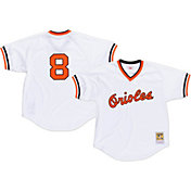 Mitchell & Ness Men's Replica Baltimore Orioles Cal Ripken Jr. White Cooperstown Batting Practice Jersey