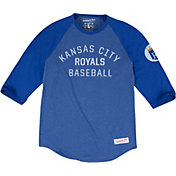 Mitchell & Ness Men's Kansas City Royals Royal Three-Quarter Raglan Sleeve Shirt