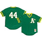 Mitchell & Ness Men's Replica Oakland Athletics Reggie Jackson Green Cooperstown Batting Practice Jersey