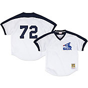 Mitchell & Ness Men's Replica Chicago White Sox Carlton Fisk White Cooperstown Batting Practice Jersey