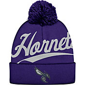 Mitchell & Ness Men's Charlotte Hornets Script Purple Knit Hat