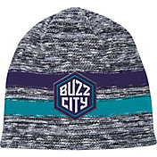 Mitchell & Ness Men's Charlotte Hornets Team Stripe Knit Hat