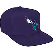 Mitchell & Ness Men's Charlotte Hornets Wool Solid Purple Adjustable Snapback Hat