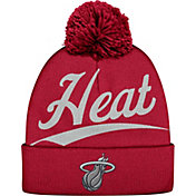 Mitchell & Ness Men's Miami Heat Script Burgundy Knit Hat