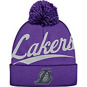 Mitchell & Ness Men's Los Angeles Lakers Script Purple Knit Hat