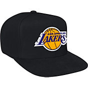 Mitchell & Ness Men's Los Angeles Lakers Wool Solid Black Adjustable Snapback Hat