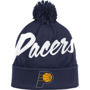 Mitchell & Ness Men's Indiana Pacers Double-Up Navy Cuffed Knit Hat