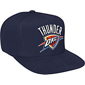 Mitchell & Ness Men's Oklahoma City Thunder Wool Solid Navy Adjustable Snapback Hat