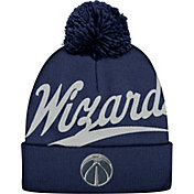 Mitchell & Ness Men's Washington Wizards Script Navy Knit Hat
