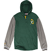 Mitchell & Ness Men's Green Bay Packers Hooded Green Long Sleeve Shirt