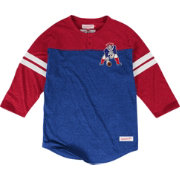 Mitchell & Ness Men's New England Patriots Start of Season Blue Henley Shirt