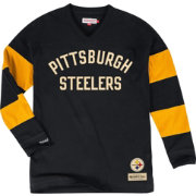 Mitchell & Ness Men's Pittsburgh Steelers Field Goal Black Long Sleeve Shirt