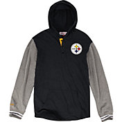 Mitchell & Ness Men's Pittsburgh Steelers Hooded Black Long Sleeve Shirt