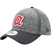 New Era Men's Atlanta Braves 39Thirty Clubhouse Grey/Navy Flex Hat
