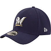 New Era Men's Milwaukee Brewers 39Thirty Classic Navy Flex Hat