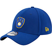 New Era Men's Milwaukee Brewers 39Thirty Classic Royal Flex Hat