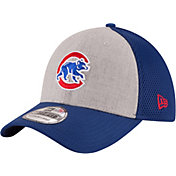 New Era Men's Chicago Cubs 39Thirty Clubhouse Grey/OTC Flex Hat