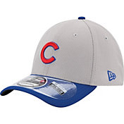 New Era Men's Chicago Cubs 39Thirty Diamond Era Grey Flex Hat