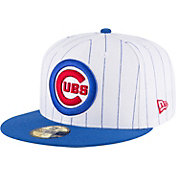 New Era Men's Chicago Cubs 59Fifty White Pinstripe Hat