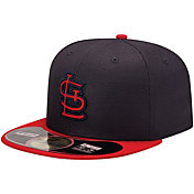 New Era Men's St. Louis Cardinals 59Fifty Diamond Era Navy Batting Practice Hat
