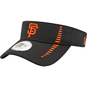 New Era Men's San Francisco Giants Black Adjustable Speed Visor