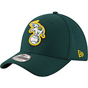 New Era Men's Oakland Athletics 39Thirty Diamond Era Green Flex Hat
