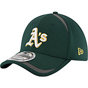New Era Men's Oakland Athletics 39Thirty Green Reflectaline Flex Hat