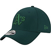 New Era Men's Oakland Athletics 39Thirty Diamond Era Tone Tech Green Flex Hat