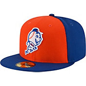 New Era Men's New York Mets 59Fifty Diamond Era Orange/Royal Fitted Hat