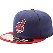 New Era Men's Cleveland Indians 59Fifty Home Navy Authentic Hat
