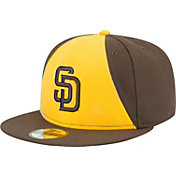 New Era Men's San Diego Padres 59Fifty Alternate Brown/Gold Authentic Hat
