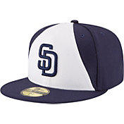 New Era Men's San Diego Padres 59Fifty Diamond Era White/Navy Fitted Hat