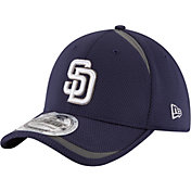 New Era Men's San Diego Padres 39Thirty Navy Reflectaline Flex Hat