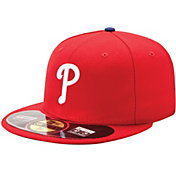 New Era Men's Philadelphia Phillies 59Fifty Game Red Authentic Hat