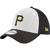 New Era Men's Pittsburgh Pirates 39Thirty Heather Grey Neo Flex Hat