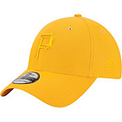 New Era Men's Pittsburgh Pirates 39Thirty Diamond Era Tone Tech Gold Flex Hat
