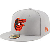 New Era Men's Baltimore Orioles 59Fifty Grey State Logo Hat