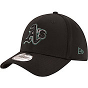 New Era Men's Oakland Athletics 39Thirty Tone Tech Black Flex Hat