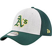 New Era Men's Oakland Athletics 39Thirty Heather Grey Neo Flex Hat