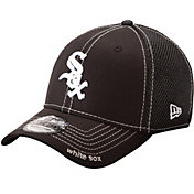 New Era Men's Chicago White Sox 39Thirty Neo Black Flex Hat