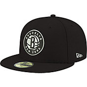 New Era Men's Brooklyn Nets 59Fifty Black Fitted Hat