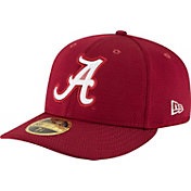 New Era Men's Alabama Crimson Tide Crimson Bevel Team Low Profile 59Fifty Hat