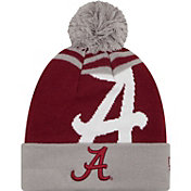 New Era Men's Alabama Crimson Tide Grey/Crimson Logo Whiz 2 Knit Beanie