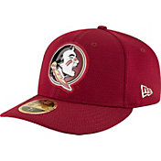 New Era Men's Florida State Seminoles Garnet Bevel Team Low Profile 59Fifty Hat