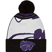 New Era Men's Kansas State Wildcats Black/White Logo Whiz 2 Knit Beanie