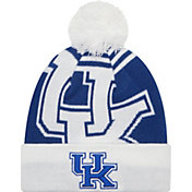 New Era Men's Kentucky Wildcats White/Blue Logo Whiz 2 Knit Beanie