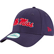 New Era Men's Ole Miss Rebels Blue The League 9Forty Adjustable Hat