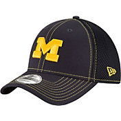 New Era Men's Michigan Wolverines Blue Team Front Neo 39Thirty Hat