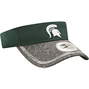 New Era Men's Michigan State Spartans Green/Grey Training Visor